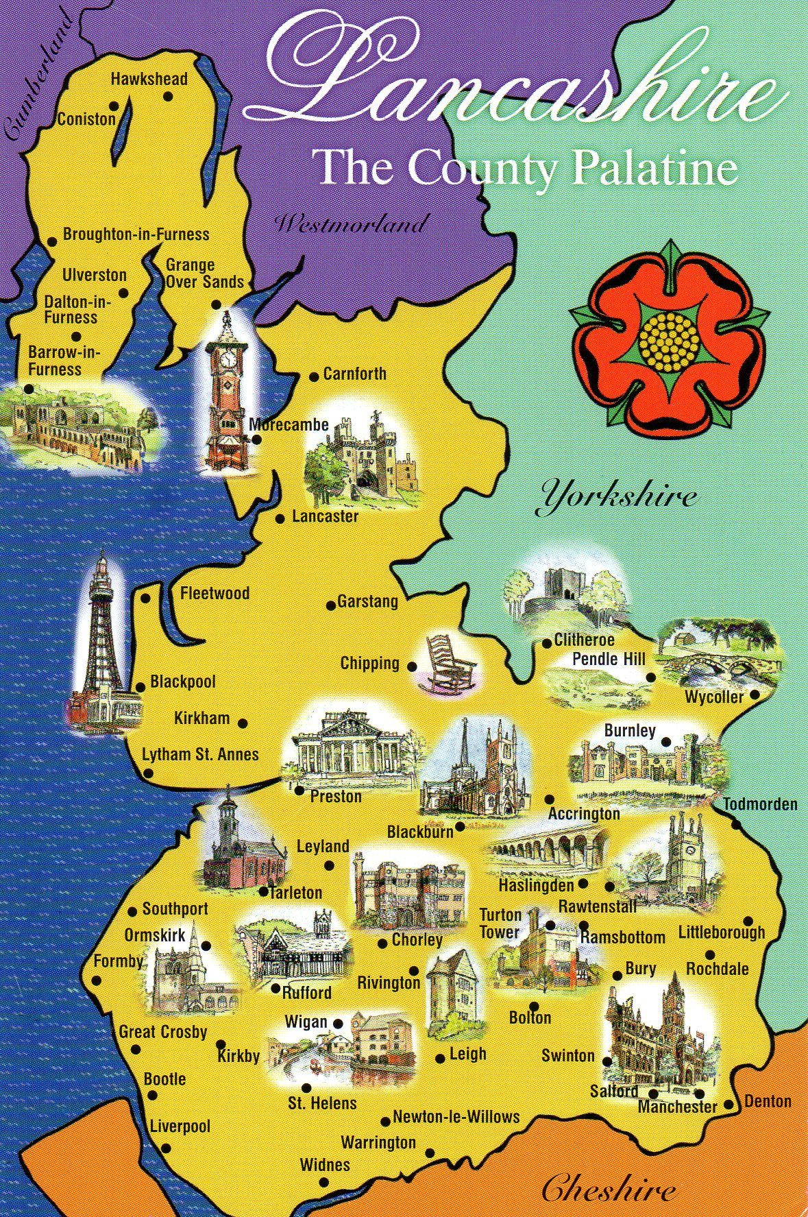 Original Lancashire Boundaries