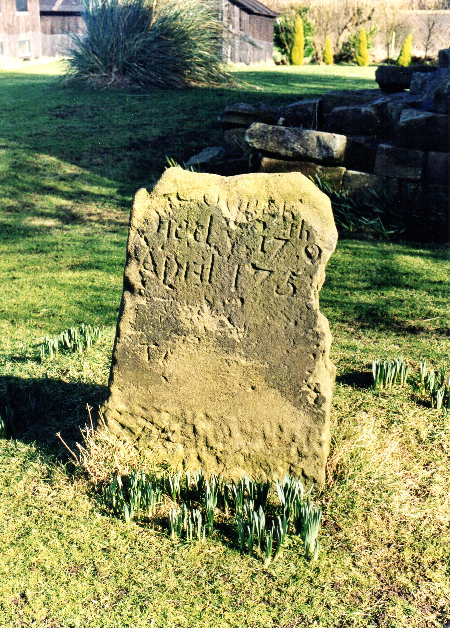 Gravestone Burscough Priory